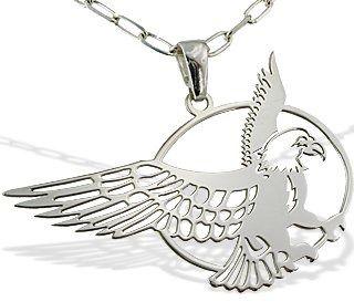 Wisiorek srebrny z orłem- 1