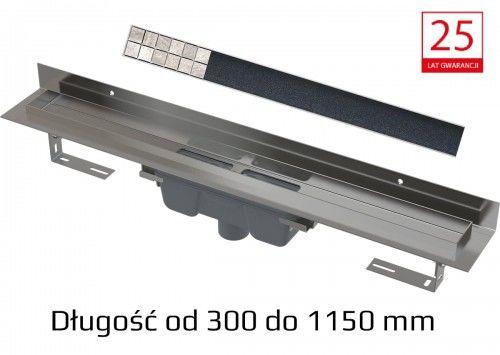 Odpływ podłogowy + Ruszt do wypełnienia płytką - od 300 do 1150 mm