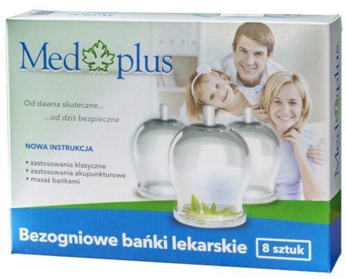 Med Plus - Bańki bezogniowe - 8 szt. + Pompka ergonomiczna