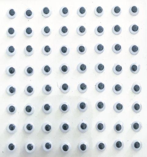 Ruchome oczy samoprzylepne 6mm 64 sztuk MT-6404