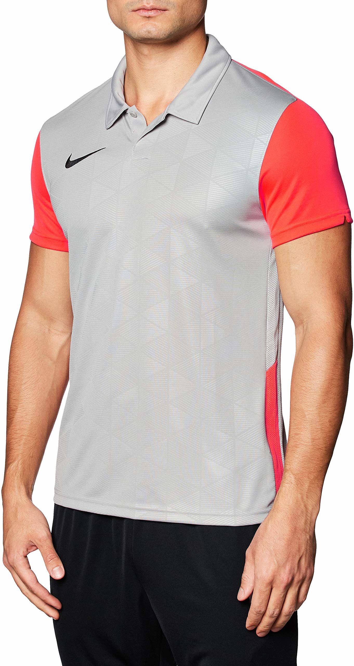 Nike Trophy IV męska koszulka polo, Pewter Grey/Bright Crimson/Black, 2XL