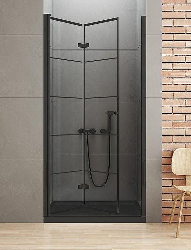 Drzwi wnękowe składane 90x195 New Soleo Black New Trendy (D-0283A)