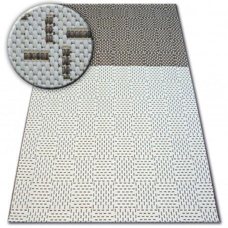 Dywan SZNURKOWY SIZAL FLAT 48722/608 Dwukolorowy krem brąz 80x150 cm