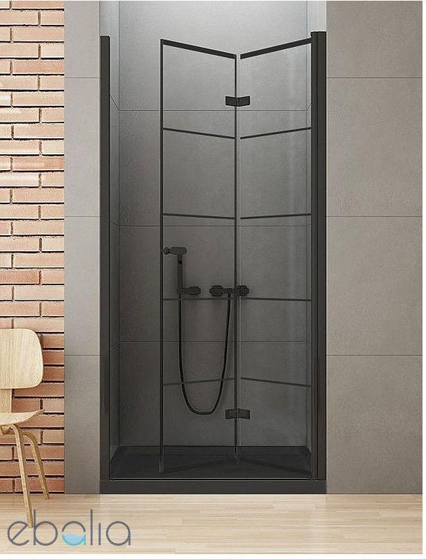 Drzwi wnękowe składane 90x195 New Soleo Black New Trendy (D-0284A)