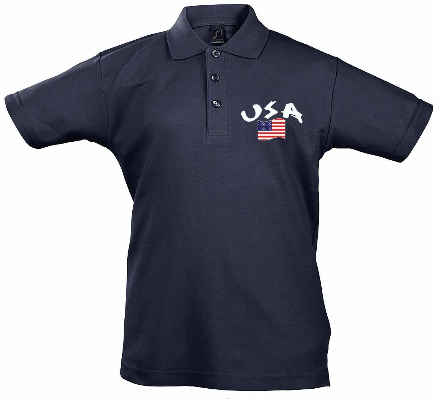 Supportershop Dziecięca koszulka polo Rugby USA XXL niebieska