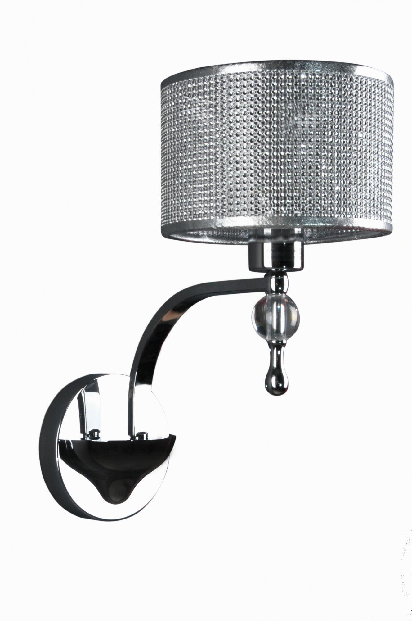 ŻARÓWKA LED GRATIS! Kinkiet Jewellery W1550-01A Zuma Line oprawa ścienna w stylu kryształowym