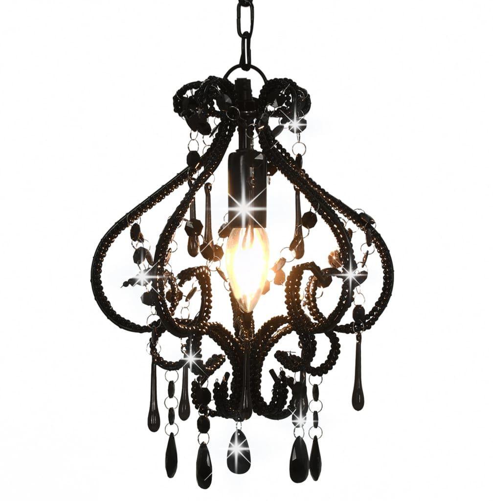 Czarna lampa sufitowa z koralikami - EX168-Belisa