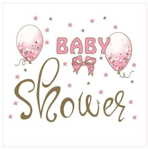Serwetki na Baby Shower różowe z balonikami 33cm 20 sztuk SLOG053301