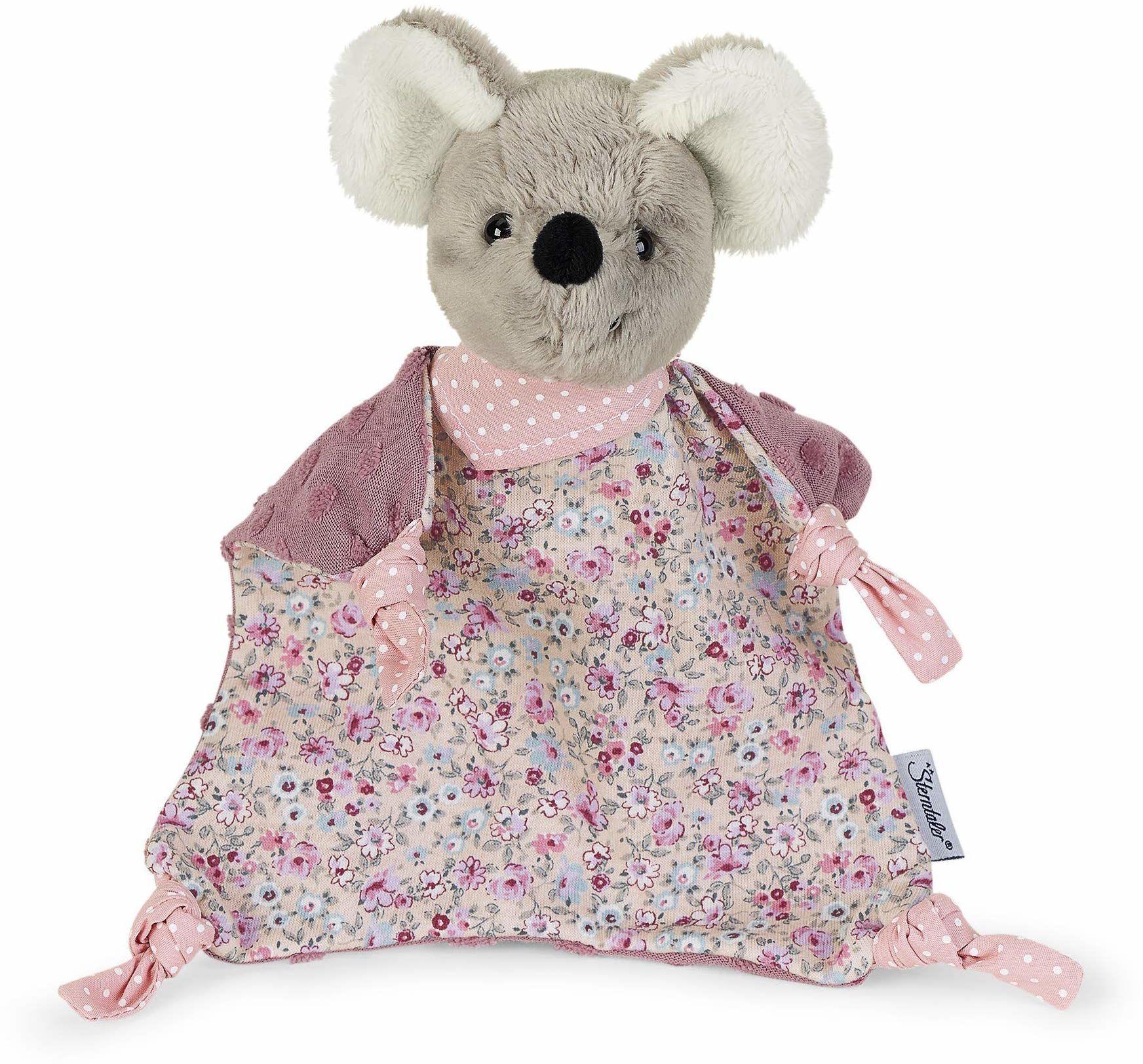 Sterntaler Ręcznik do przytulania myszy, dla dzieci od 1. miesiąca, rozmiar M, 36 cm, szary/wielokolorowy