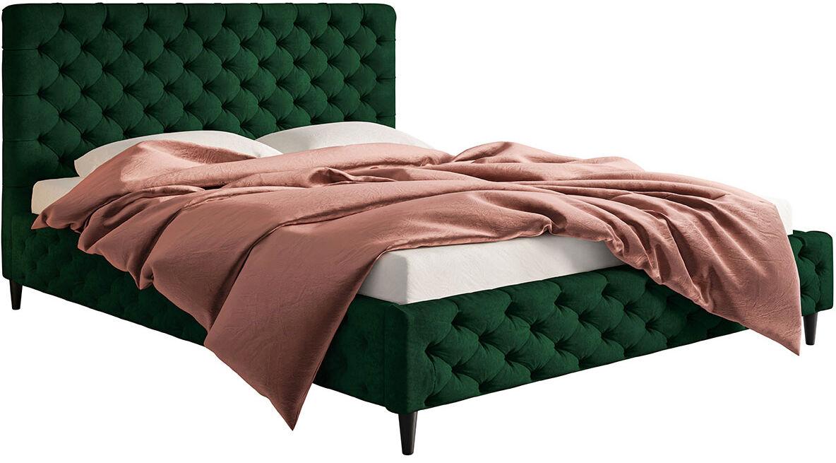 Pikowane łóżko z zagłówkiem 140x200 Cortis - 36 kolorów