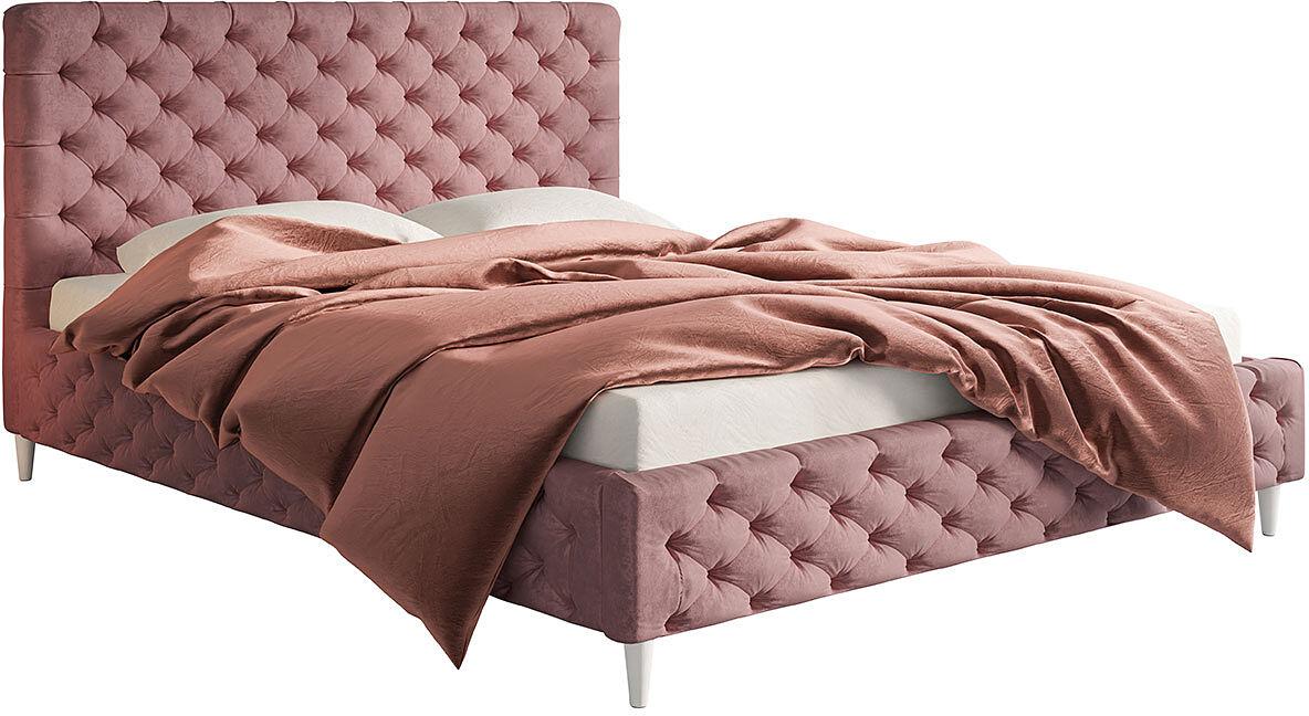 Tapicerowane łóżko z zagłówkiem 160x200 Cortis - 36 kolorów