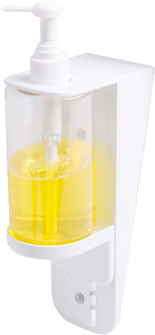 Dozownik do mydła w płynie. szamponu i płynu dezynfekcyjnego Faneco ECO 0.3 litra plastik biały