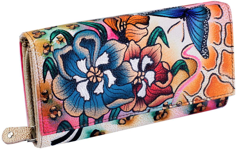 KOCHMANSKI skórzany portfel damski ręcznie malowany 4262