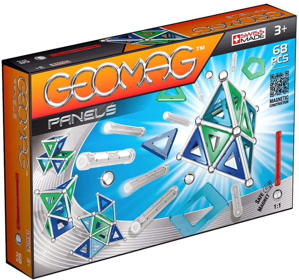 Geomag Panels Magnetyczna gra konstrukcyjna, wielokolorowa, 68 sztuk