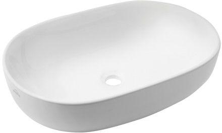 Umywalka 60x42x14,5 cm nablatowa biała