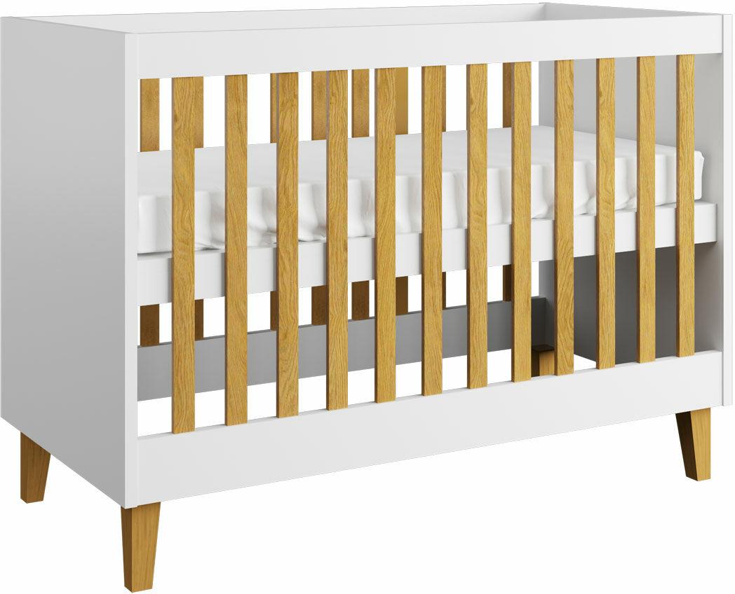 Białe łóżeczko niemowlęce - Maurycy 6X