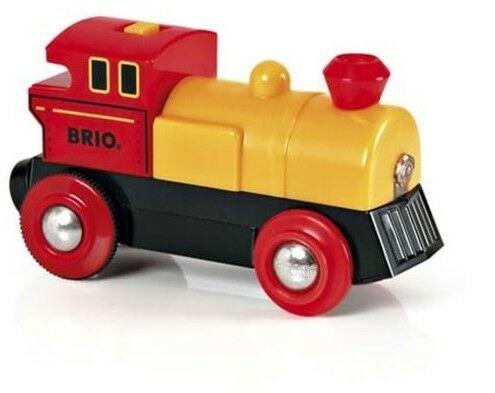 BRIO - Brio World Lokomotywa na Baterie Żółta