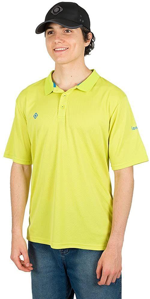 Izas Ordesa koszulka polo z krótkimi rękawami, dla mężczyzn S zielony/królewski błękit