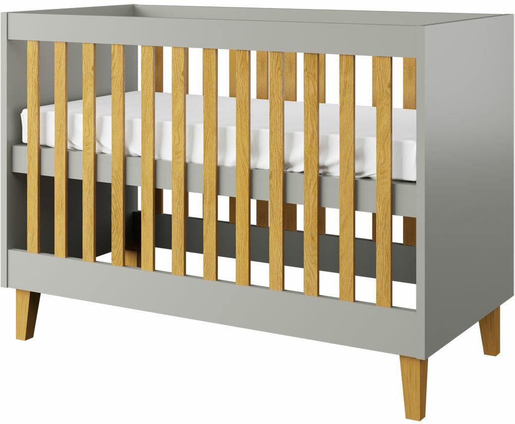 Szare łóżeczko niemowlęce - Maurycy 6X