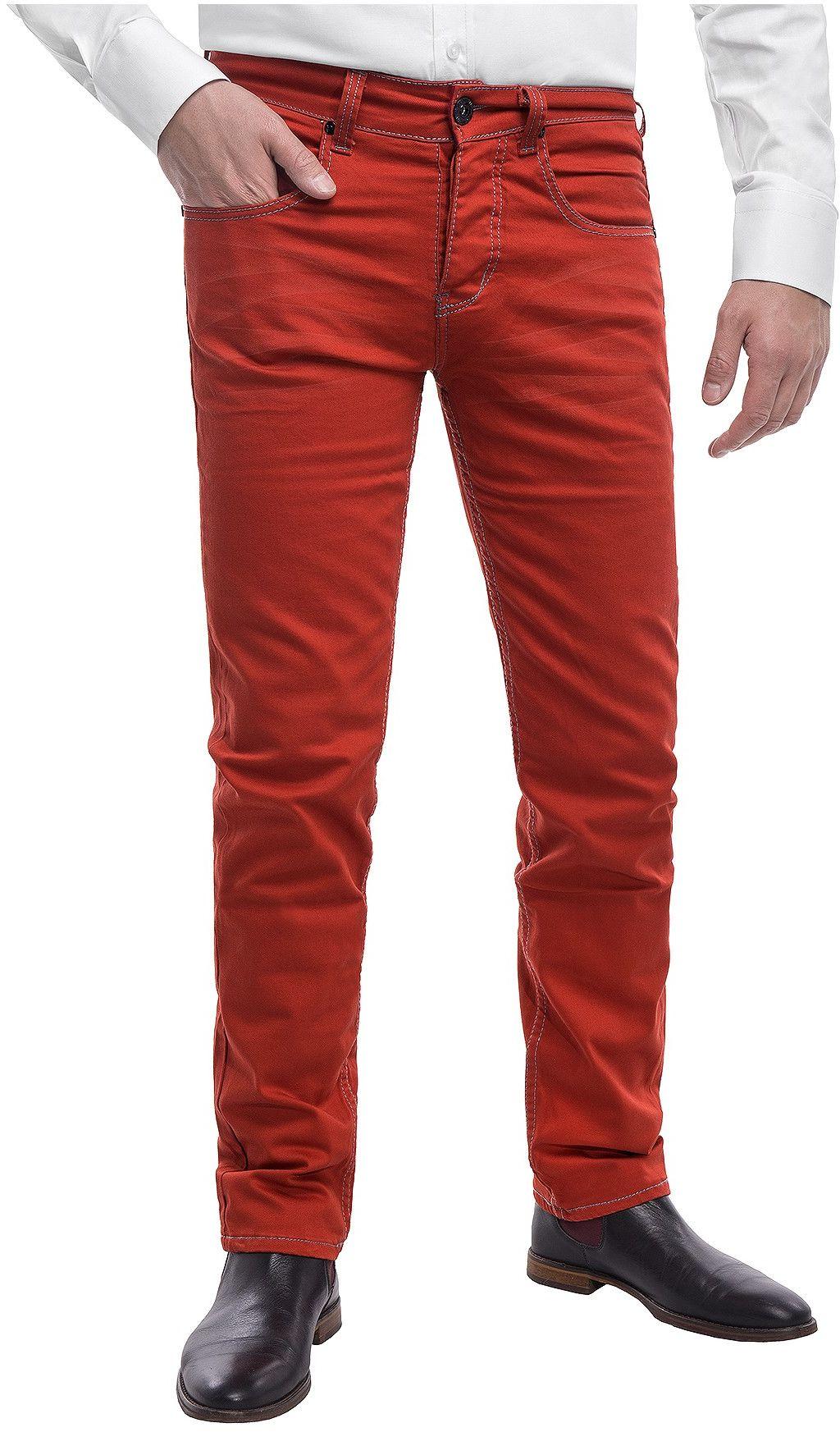 Spodnie męskie chinosy LZ116 -czerwony