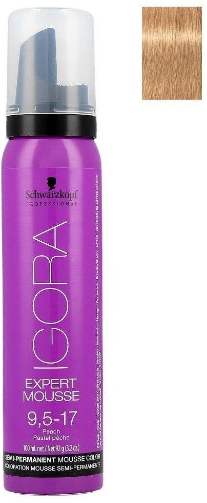 Schwarzkopf Professional IGORA Expert Mousse pianka koloryzująca do włosów odcień 9,5-17 100 ml