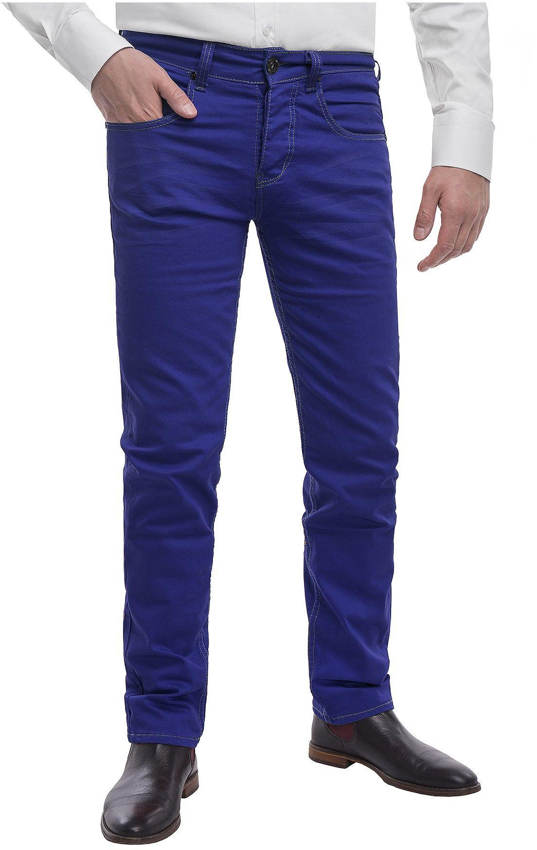 Spodnie męskie chinosy LZ116 -indigo