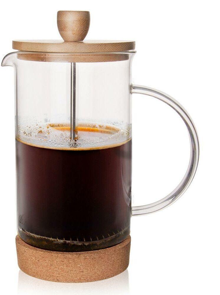 Zaparzacz imbryk DZBANEK szklany z tłokiem do kawy herbaty ziół 0,75L