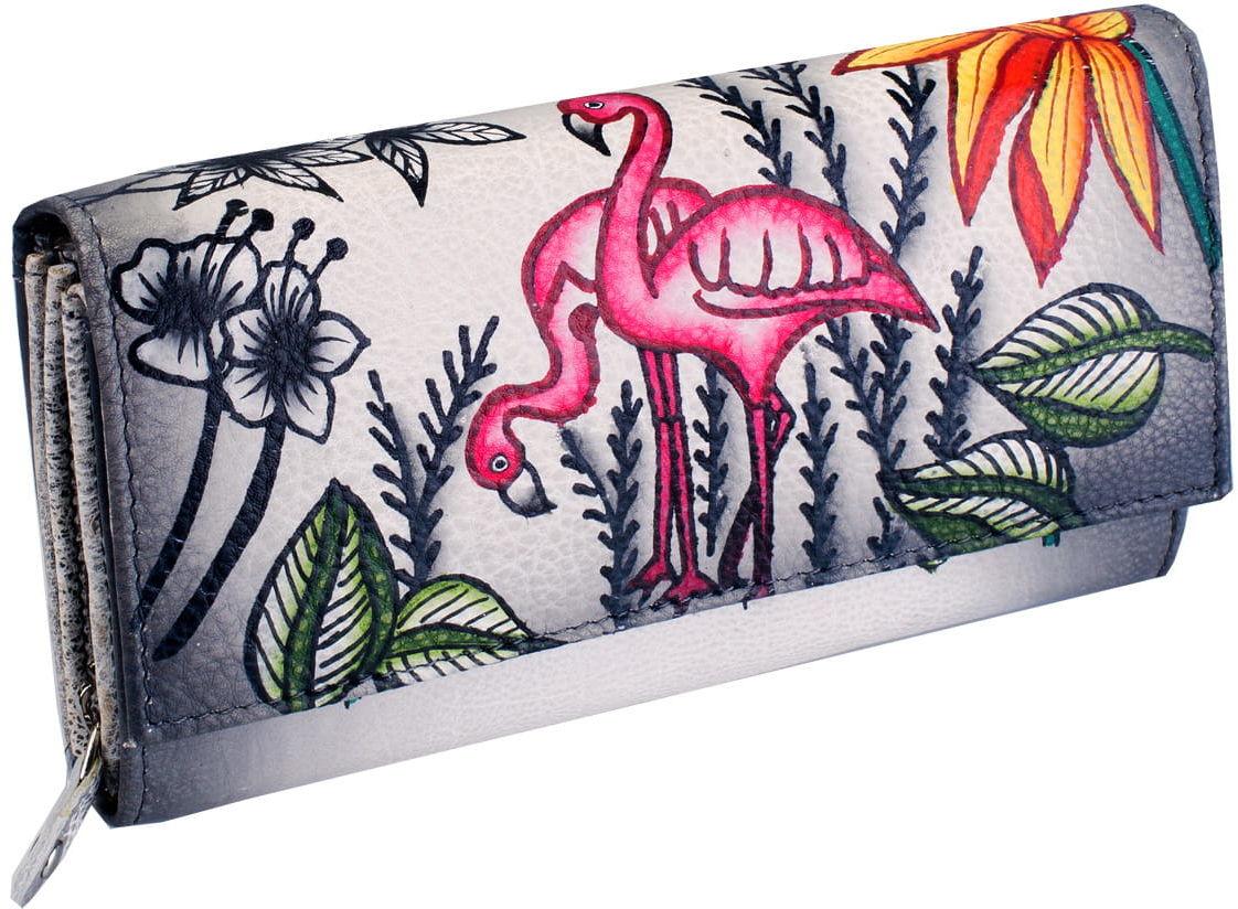 KOCHMANSKI skórzany portfel damski ręcznie malowany 4266