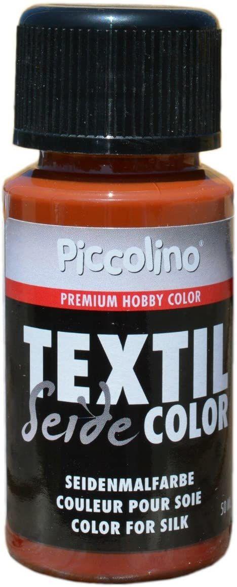 Farba do malowania jedwabiu Cognac 50ml - farba do jedwabiu Piccolino Textil Color - farba tekstylna jedwab