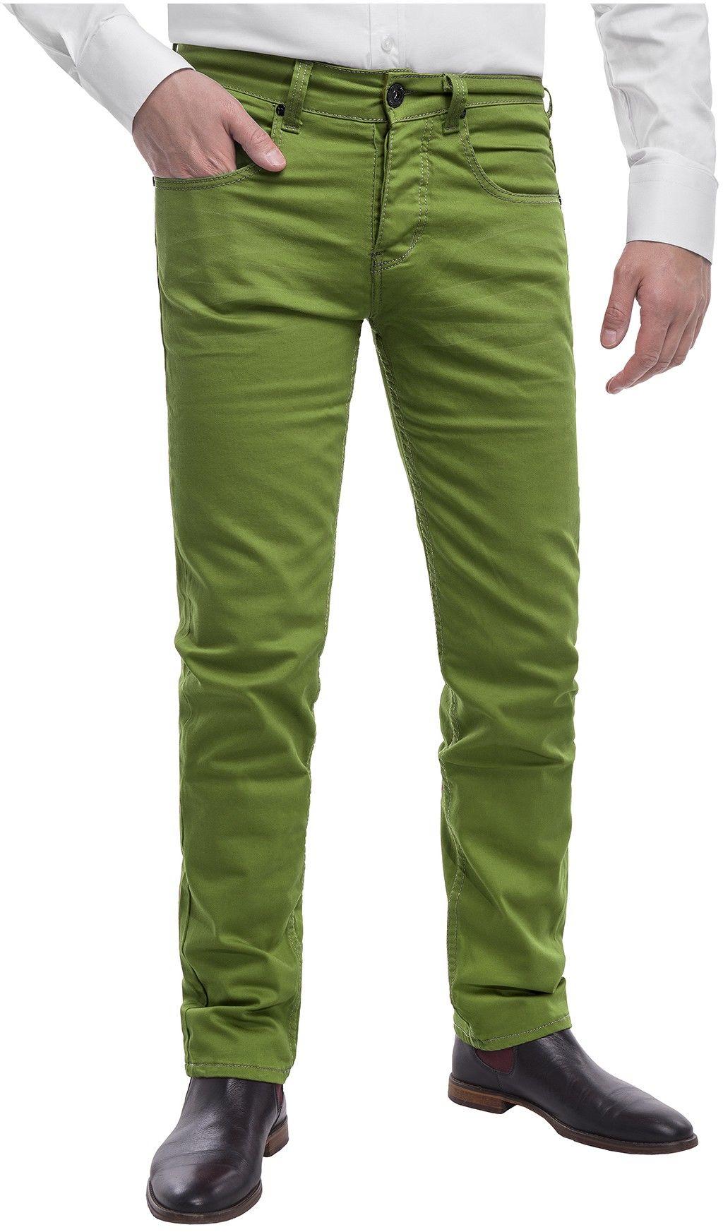 Spodnie męskie chinosy LZ116 -zielony