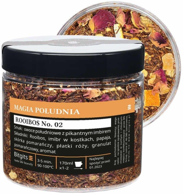 Magia południa - Herbata Rooibos z owocami południowymi, imbirem i różą