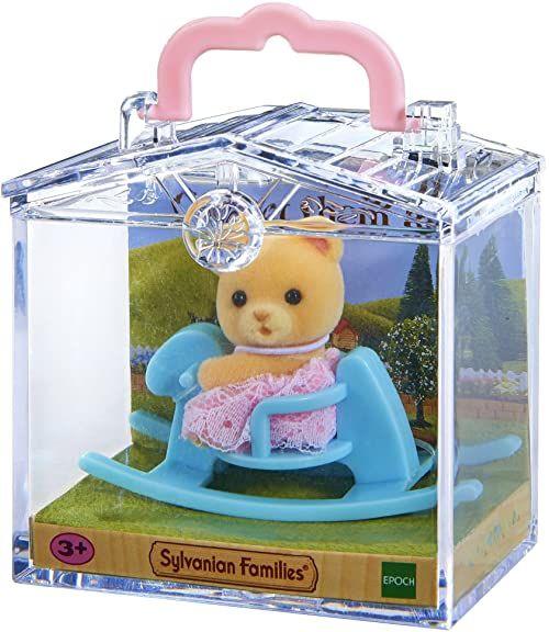 Sylvanian Families 5199 Przenośny zestaw dla dziecka (miś na koniku bujanym)