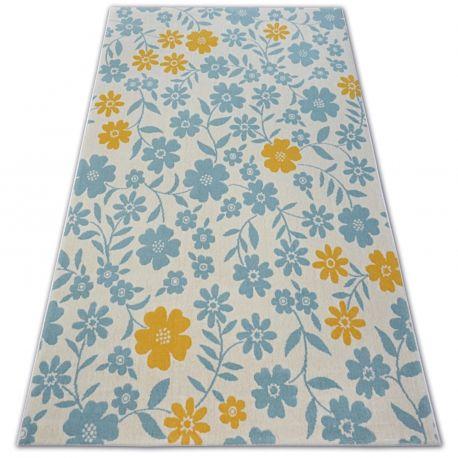 Dywan PASTEL 18414/062 - Kwiatki Kwiatuszki krem turkus złoty 120x170 cm