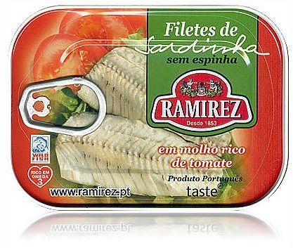 Filety z sardynek portugalskich w kremie z pomidorów Ramirez 100g