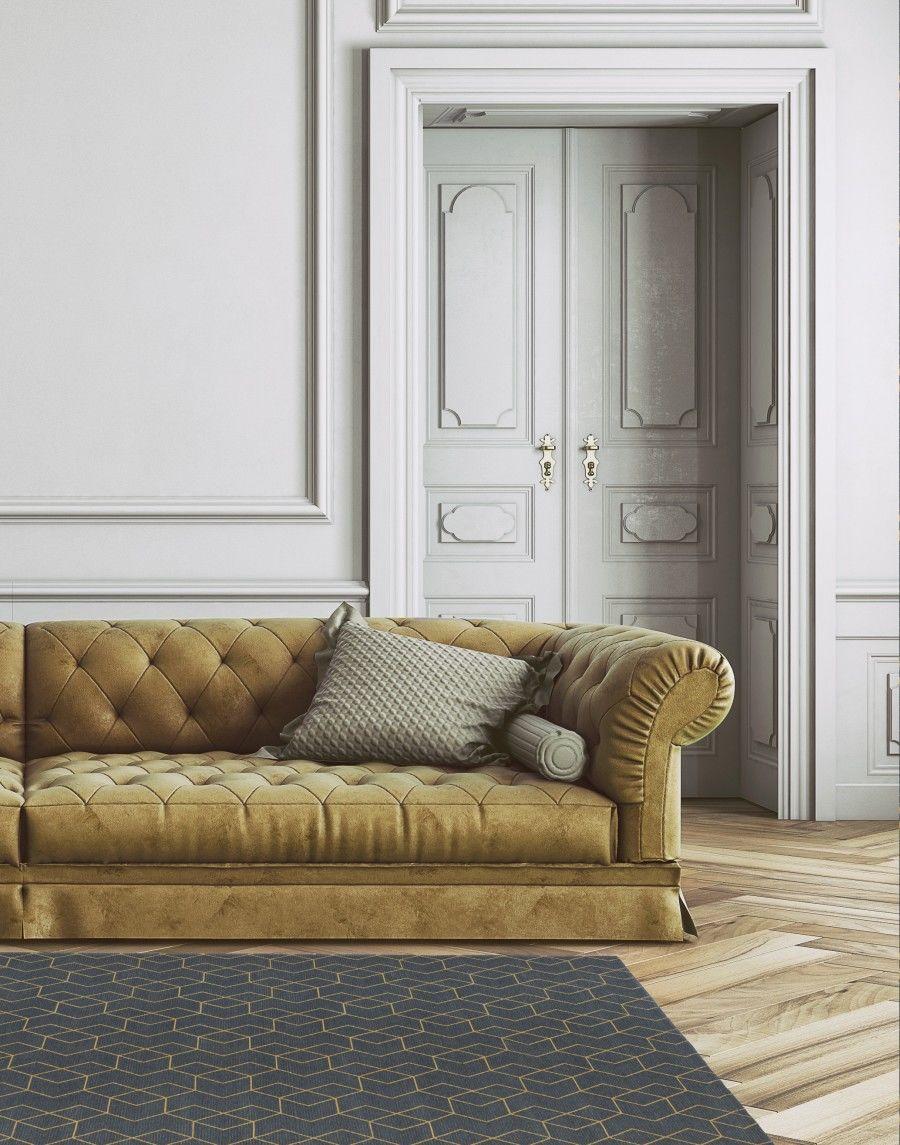 Dywan Carpet Decor Cube Golden