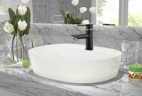 Umywalka 50x38x12 cm nablatowa owalna ,biała