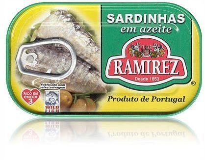Sardynki portugalskie w oliwie z oliwek Ramirez 125g