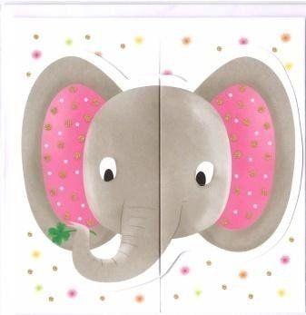 Karnet rozkładany - Słoń