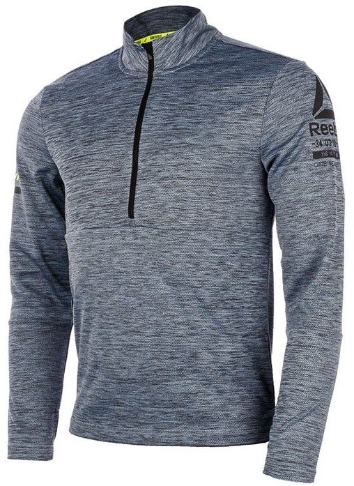 bluza do biegania męska REEBOK ONE SERIES LONGSLEEVE 1/2 ZIP / B47138