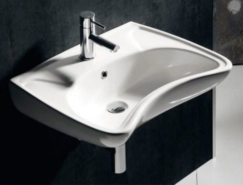 Umywalka dla osób niepełnosprawnych 59x45,5 cm, biała