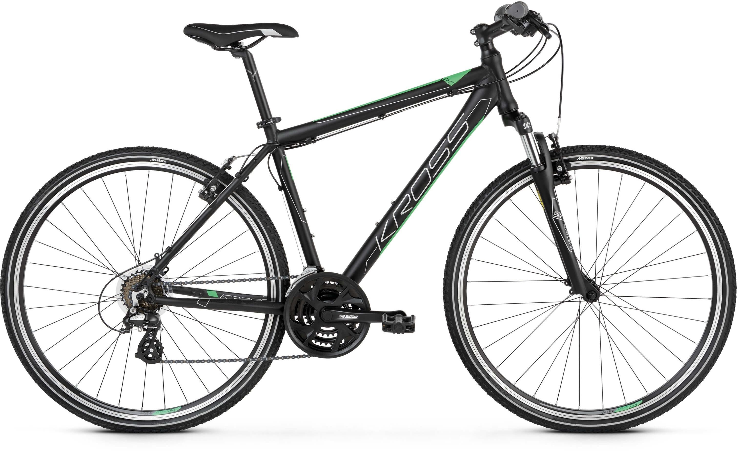 """Rower Kross EVADO 2.0 czarno-zielony 28"""" 2021"""