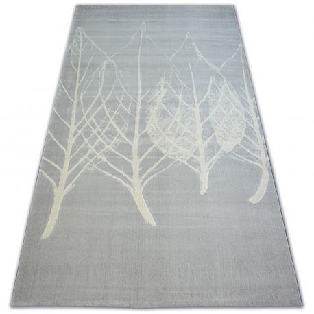 Dywan SCANDI 18281/652 - LISTKI szary krem 80x150 cm