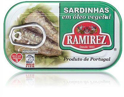 Sardynki portugalskie w oleju roślinnym Ramirez 125g.