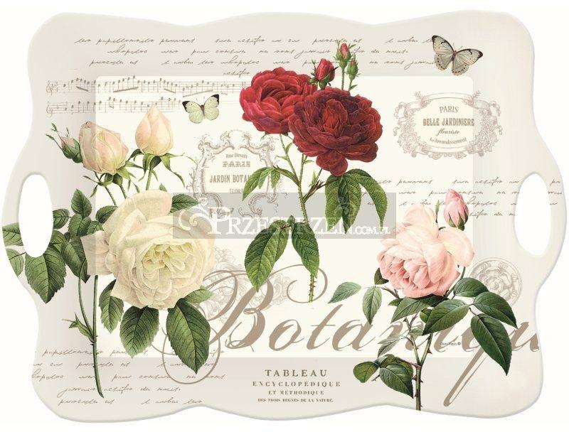 DUŻA TACA KUCHENNA - Jardin Botanique - Róże (417 JARB)