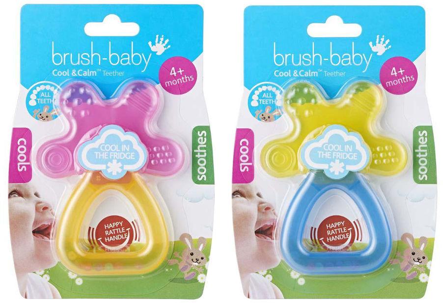 BRUSH-BABY Cool&Calm - chłodzący gryzak na ząbkowanie dla dzieci od 4 mca życia