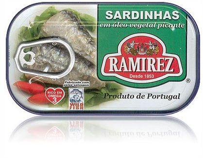 Sardynki portugalskie pikantne w oleju Ramirez 125g