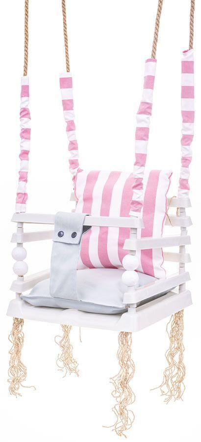 Różowa huśtawka dla dziewczynki 3w1 - Pola