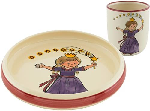 Kuhn Rikon 39551 zestaw dla dzieci księżniczka, ceramika, talerz, filiżanka, porcelana