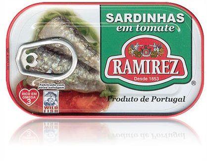 Sardynki portugalskie w pomidorach Ramirez 125g