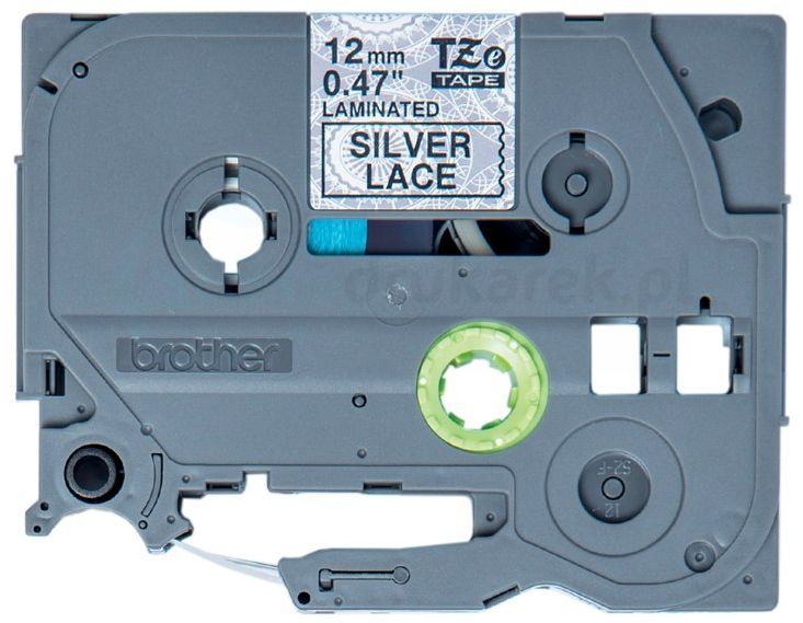 Oryginalna taśma Brother TZe-MPSL31 12mm x 4m srebrna/czarny nadruk